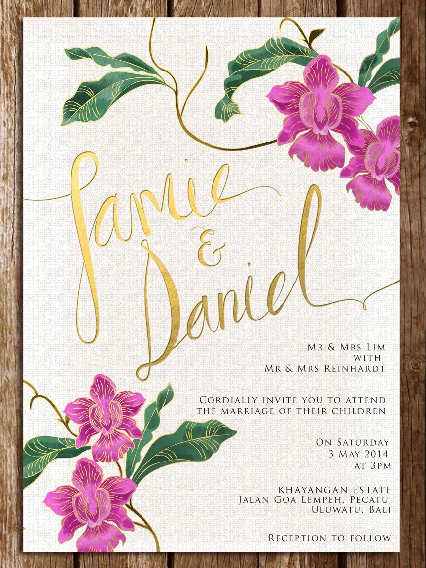 singapore wedding invitations Google Search Wedding