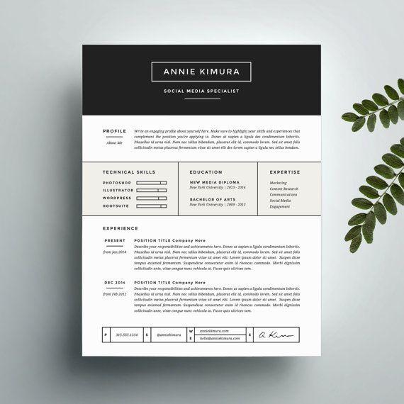 Plantilla de currículum vitae creativos y carta plantilla para ...