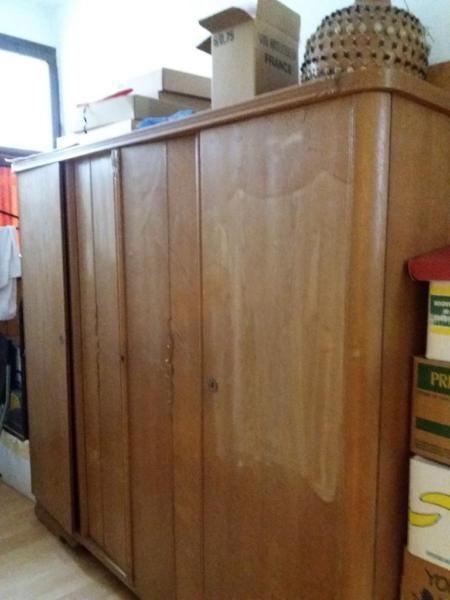 Abstellraum Schränke 2 alte schränke holz furniert stabil für den