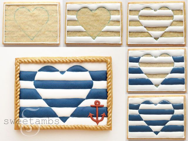 Nautical cookies tutorial by Sweet Ambs