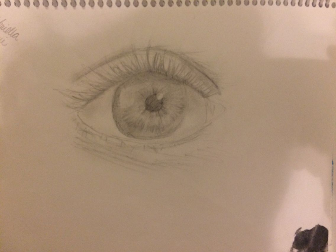 Also had a thing for drawing eyes
