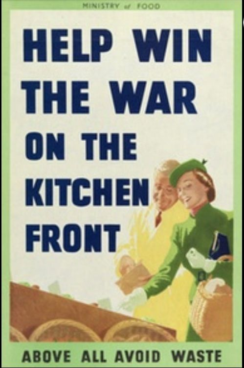 Food Dont Waste It Kitchen VINTAGE Propaganda ENAMEL METAL TIN SIGN WALL PLAQUE