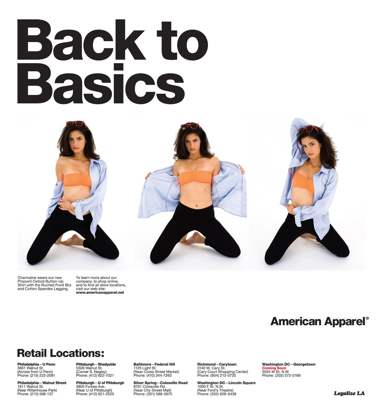 American Apparent Or Porn back to basics. classic apparel advertising
