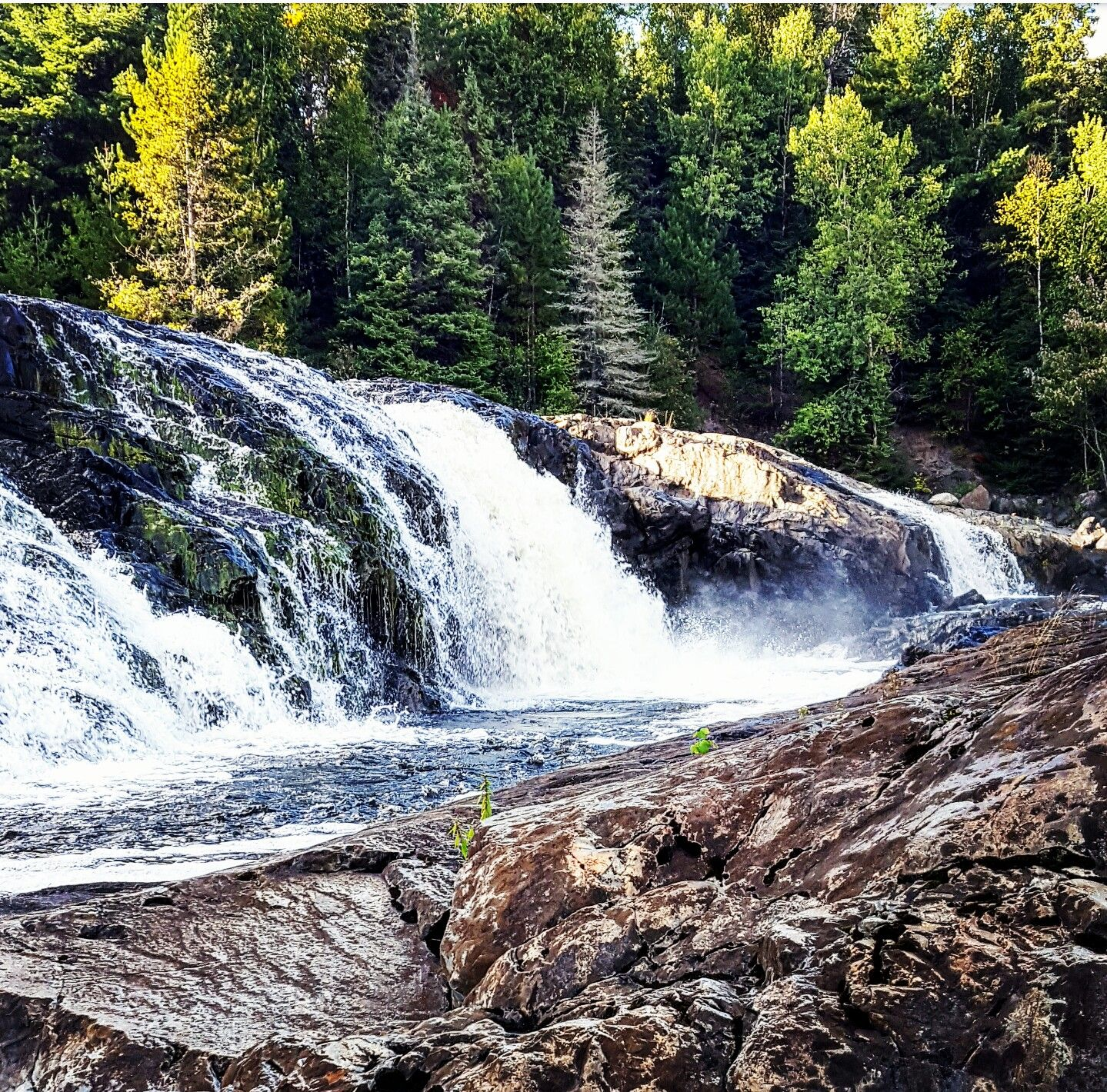 Hidden gem falls hour north of Lake Manitou, Ontario