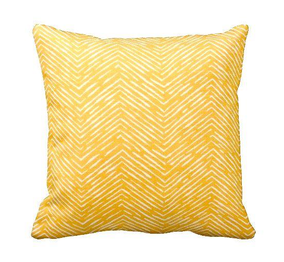 Description e 24x24 envelope closure pillow cover with a yellow