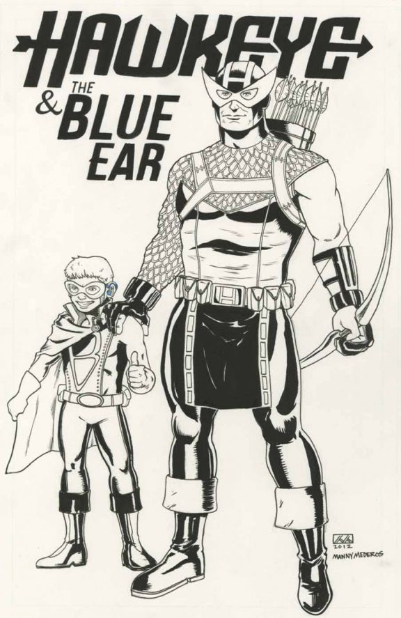 This story is incredible! A little boy refused to wear his hearing aid in his only ear so Marvel Comics created a character just for him so he'd be inspired to wear it. http://blogs.babble.com/strollerderby/2012/05/24/artists-at-marvel-comics-become-superheroes-when-they-create-hawkeye-to-encourage-young-boy-to-wear-his-hearing-aid/