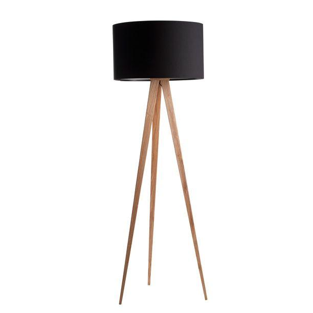 Stehlampe Tripod Holz Schwarz Design Inspiration On Fab