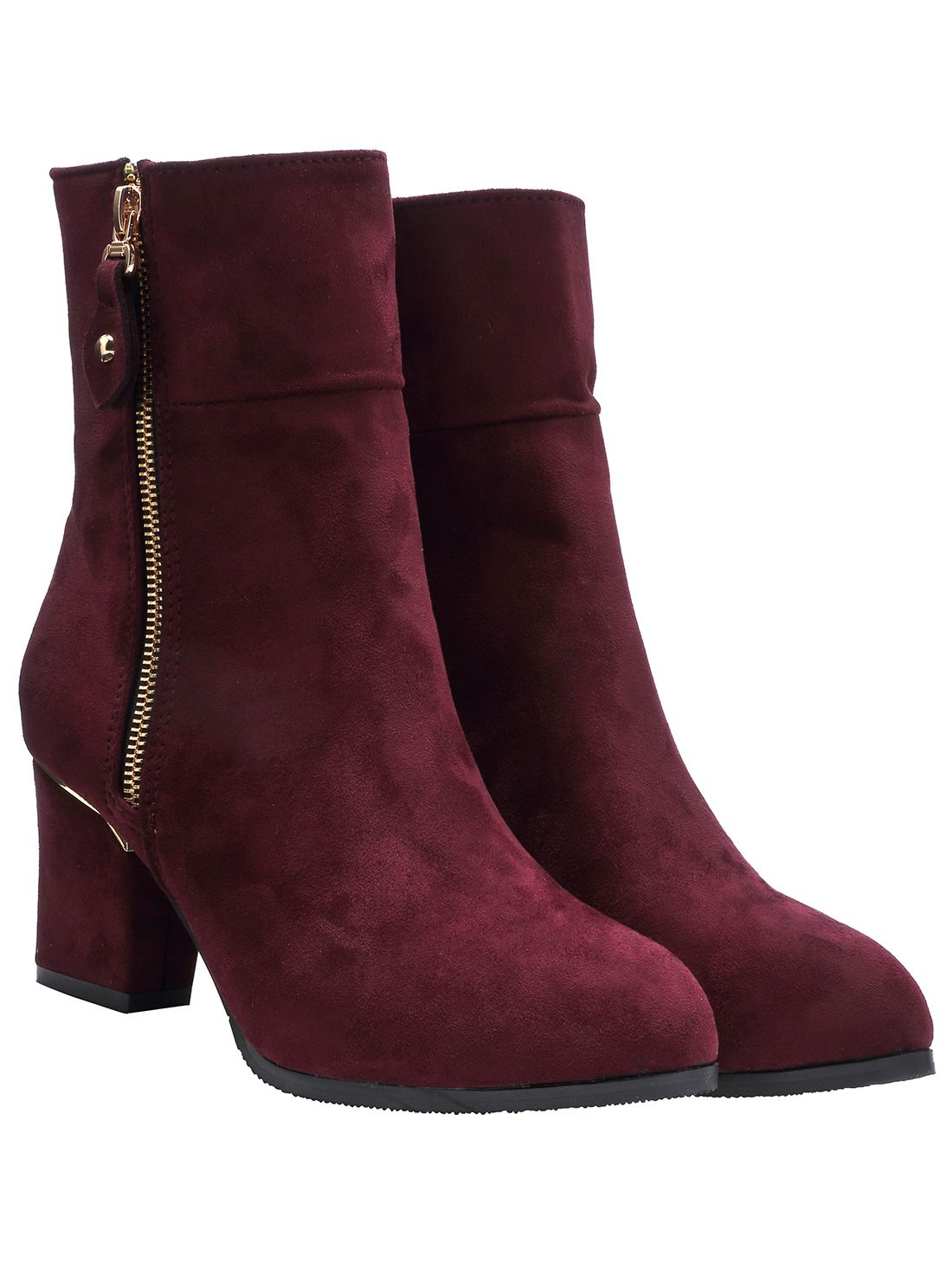Shop Wine Red Chunky Heel Suede Mid-calf Boots online. SheIn offers Wine Red Chunky Heel Suede Mid-calf Boots & more to fit your fashionable needs.
