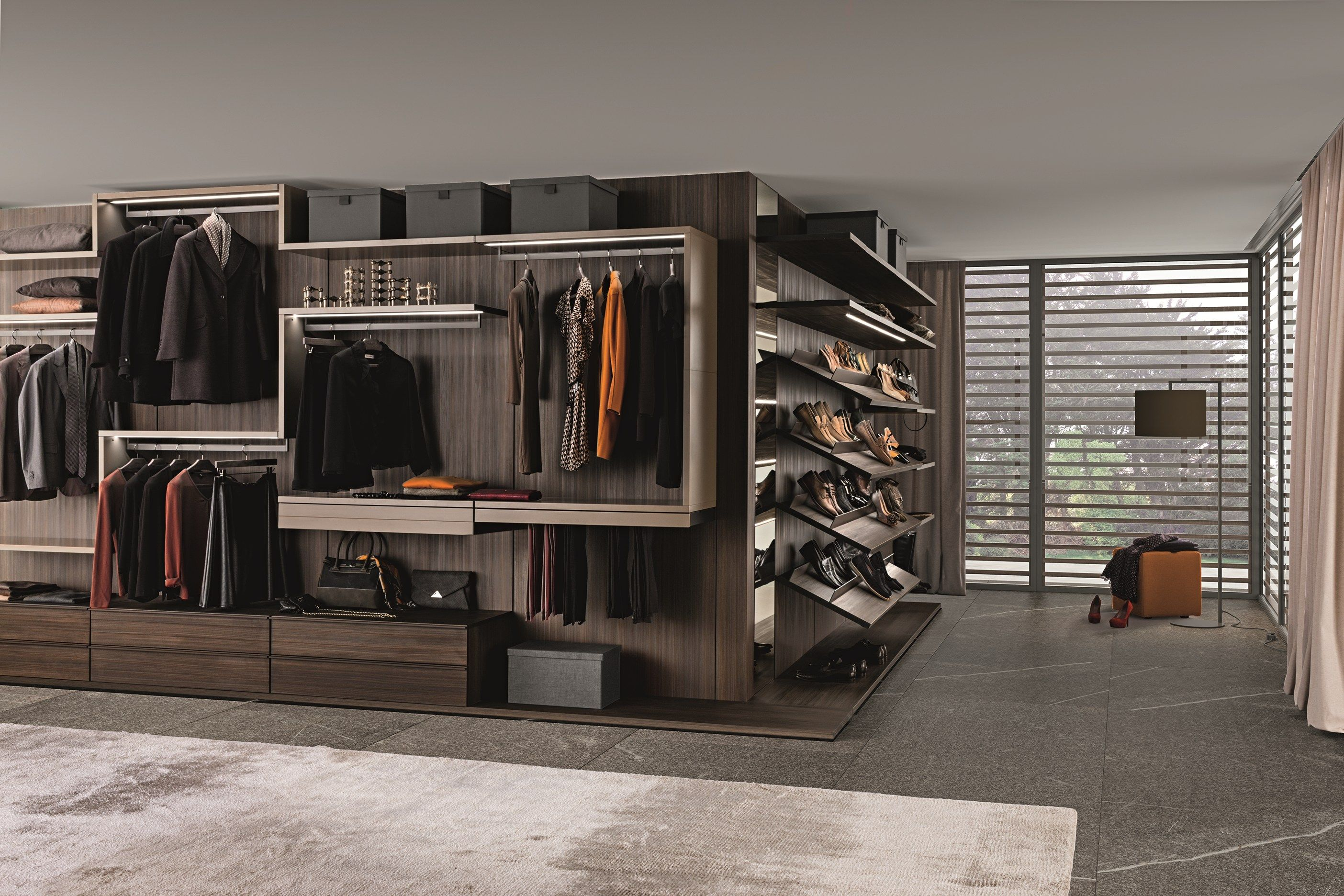Varius Dressing D Angle By Presotto Industrie Mobili Design Tormena Neadesign Roupeiro De Canto Closet Walk In Roupeiro