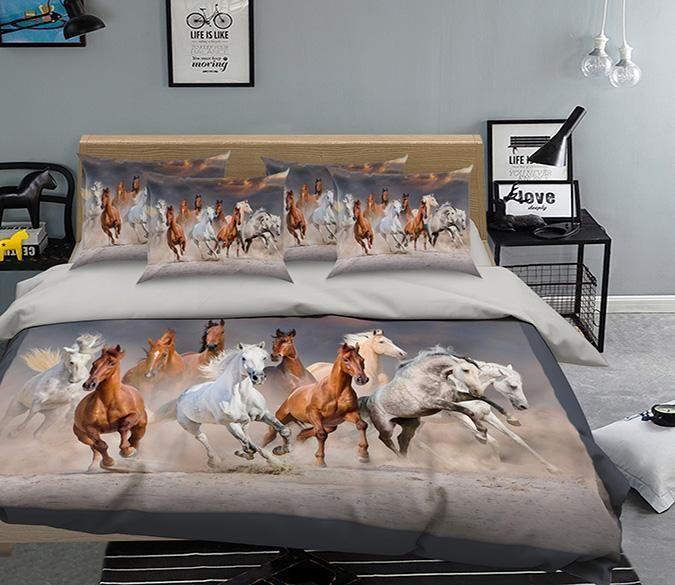 Best 3D Running Horse 130 Bed Pillowcases Quilt Aj Wallpaper 400 x 300