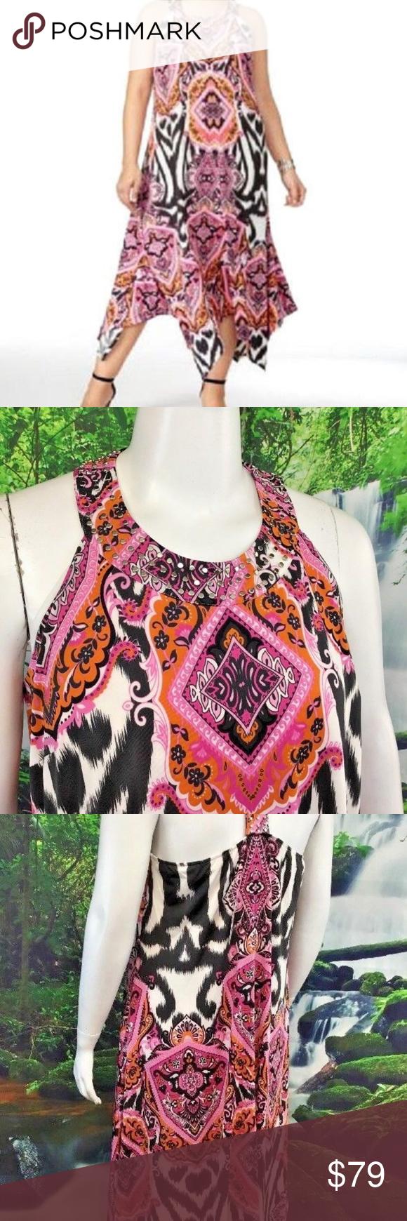 Inc International Racerback Hankerchief Dress 2x Price Break Stunning Spring And Summer Dress By Inc International Fashion Hankerchief Dress Clothes Design [ 1740 x 580 Pixel ]