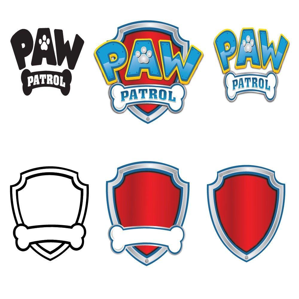 Paw Patrol Marshall Silhouette 23 With Paw Patrol Logo