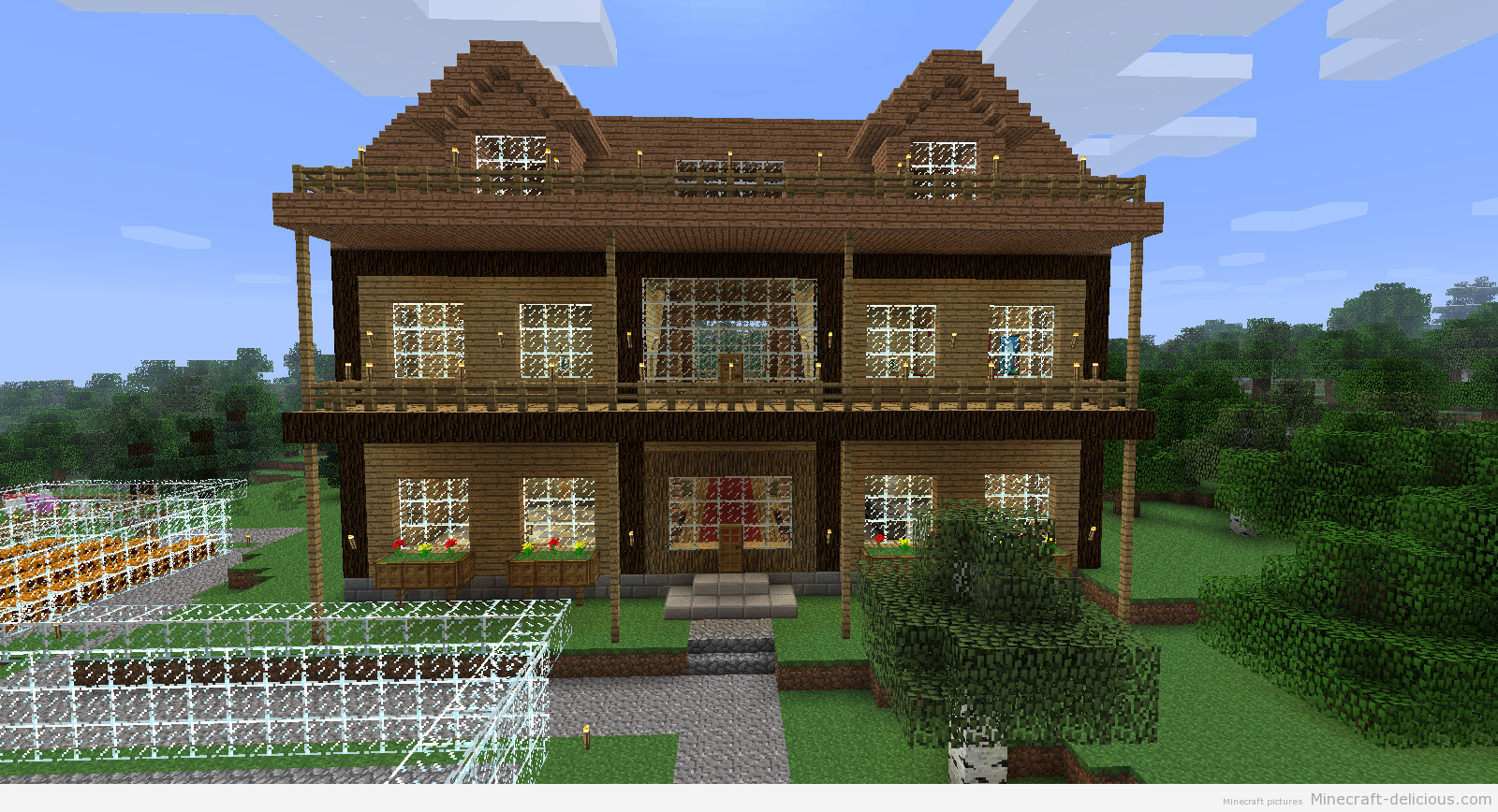 Cool minecraft houses easy to build pe more