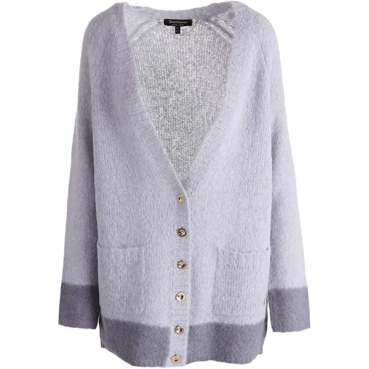 Juicy Couture Black Label Womens Needle Punch Mohair Cardigan ... 792e5df21