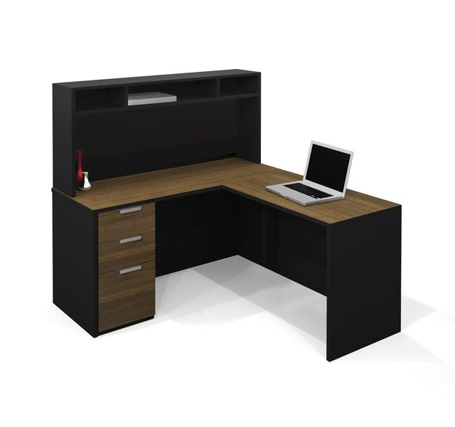 Bestar 4848 ProConcept L Shaped Desk With Hutch 48 New Home Office Furniture Cabinets Concept Property