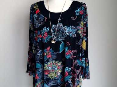 Bluzka Wzory Kwiaty Elegancka J Desigual 48 50 5981395770 Oficjalne Archiwum Allegro Tunic Tops Fashion Women S Top