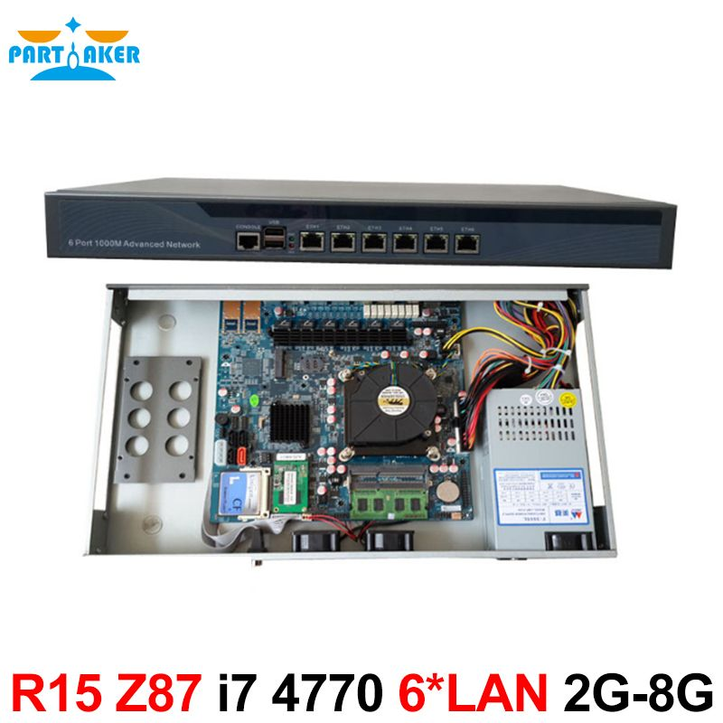 Desktops server 1U Firewall pfsense firewall router with 6