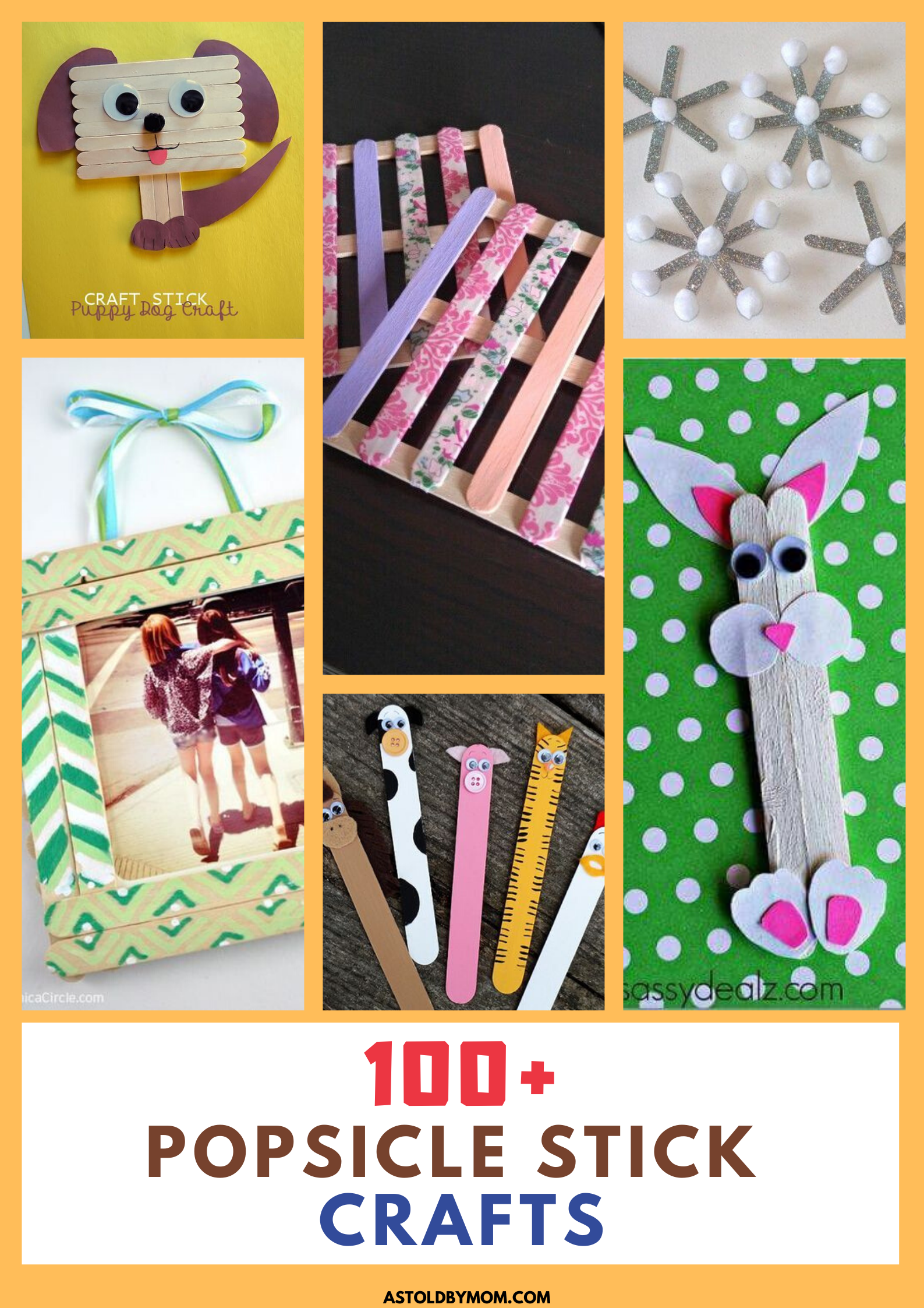 100 Popsicle Sticks Craft Ideas As Told By Mom In 2020 Craft Stick Crafts Crafts Popsicle Stick Crafts