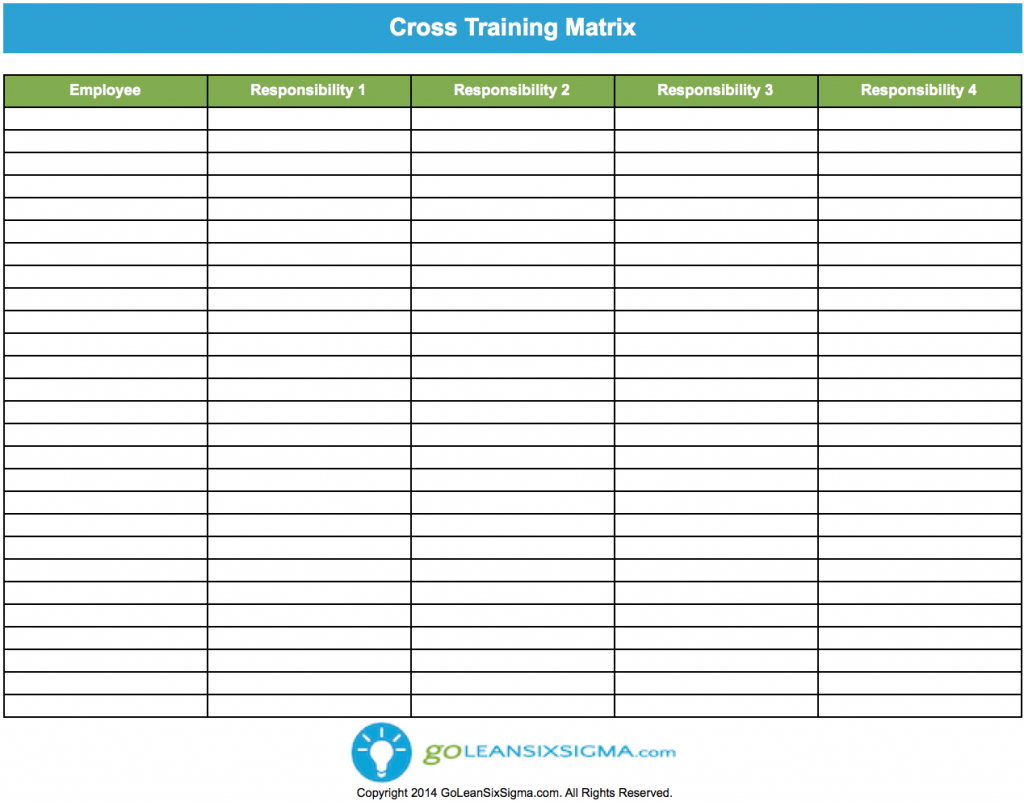 Worker a can do worker b s job and worker b can do worker for Employee cross training template