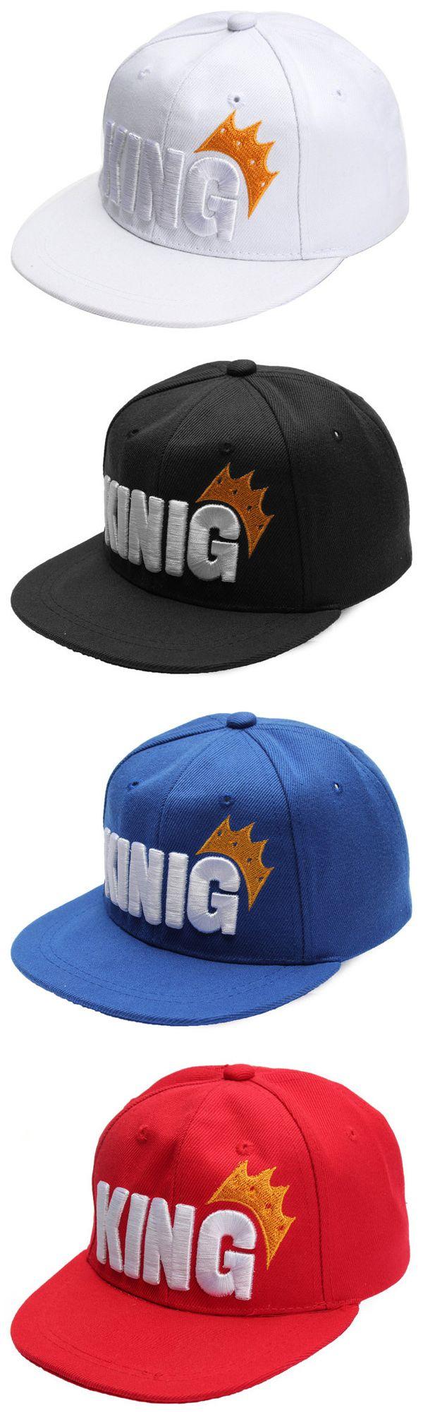ec870809ee1 US 7.54 Children Kids Boys Girls King Crown Flat Brimmed Baseball Cap  Snapback Hip Hop Hat kids  hats  summer