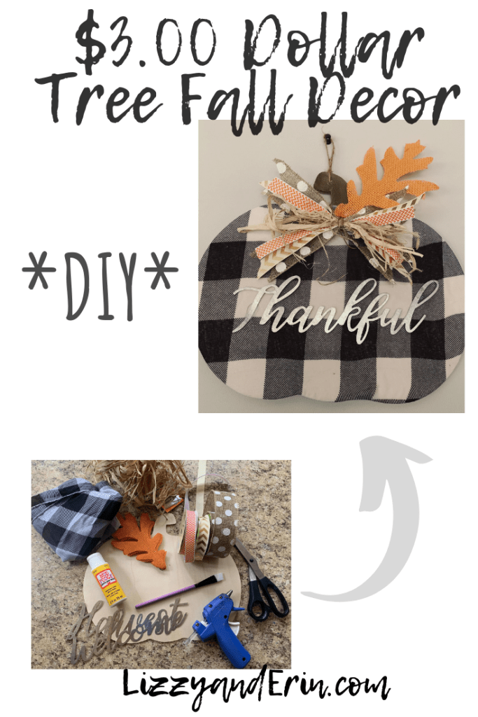 Dollar Tree Fall Decor DIY for $3.00 – Lizzy & Erin