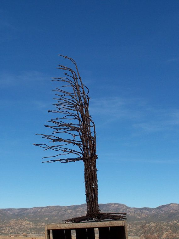 Christmas Tree Made From Recycled Barbed Wire ( Large Rusty ...