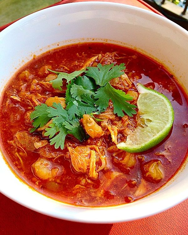 Slow Cooker Posole Recipe - Trailing Rachel #easymexicanfoodrecipes