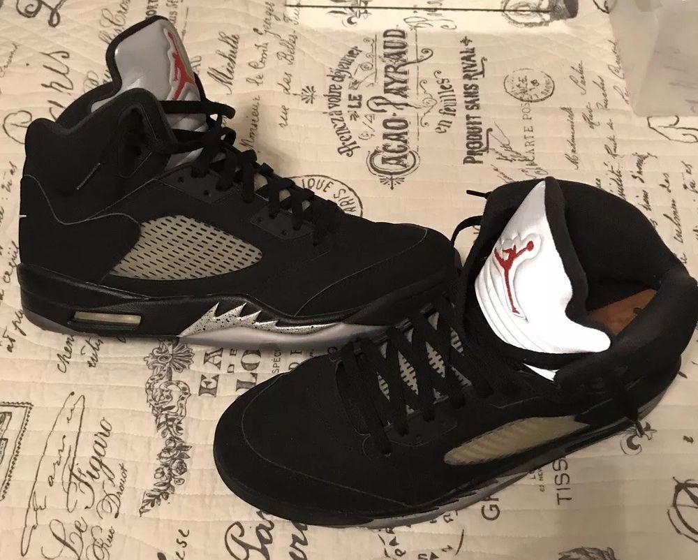 b7e09c1934e5 AIR JORDAN V 5 BLACK METALLIC 2016 OG RETRO ORIGINAL Size 12 USED  fashion   clothing  shoes  accessories  mensshoes  athleticshoes  ad (ebay link)