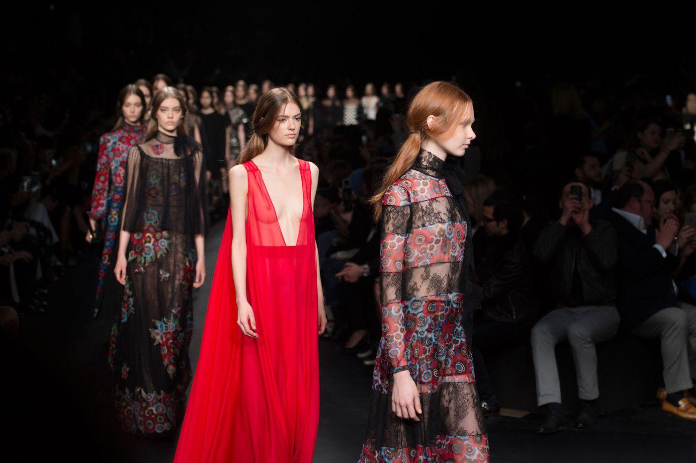 Valentino at Paris Fashion Week Fall 2015.