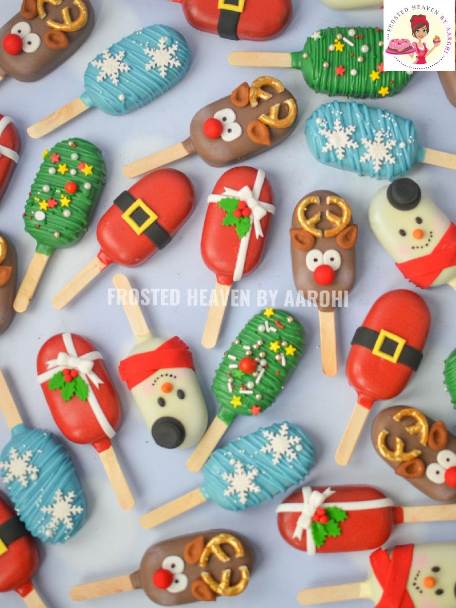 Christmas Themed Cakesicles.Merry Christmas Cakesicles Cakesicle