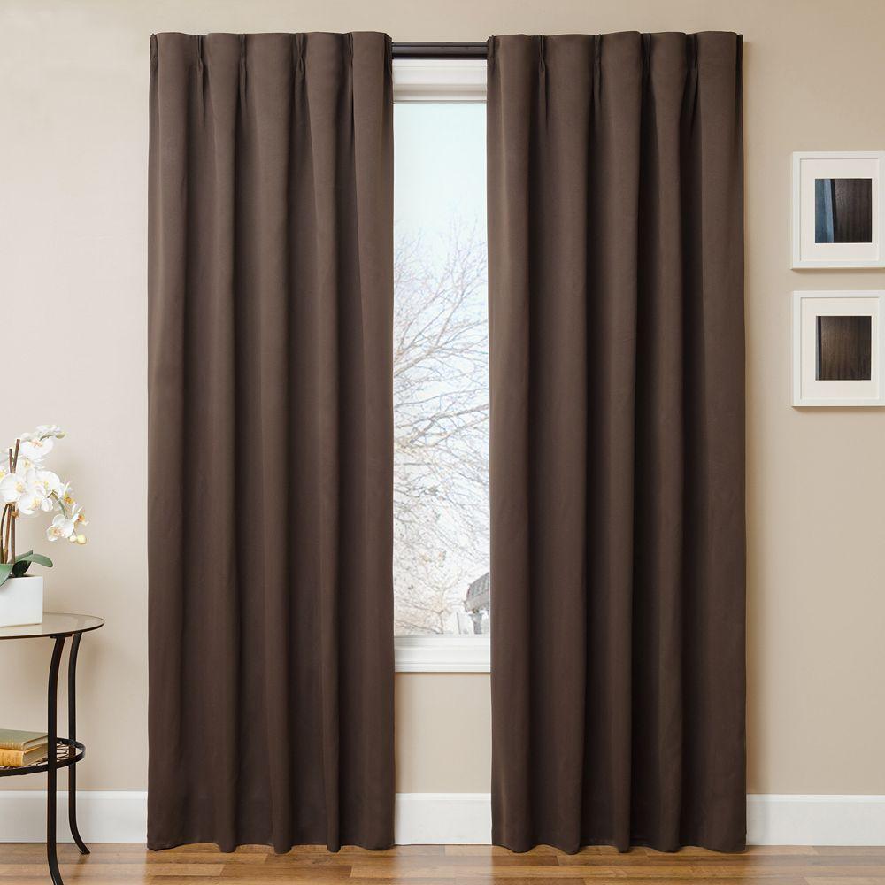 Softline simple drape pc window panel u curtain rod set panel