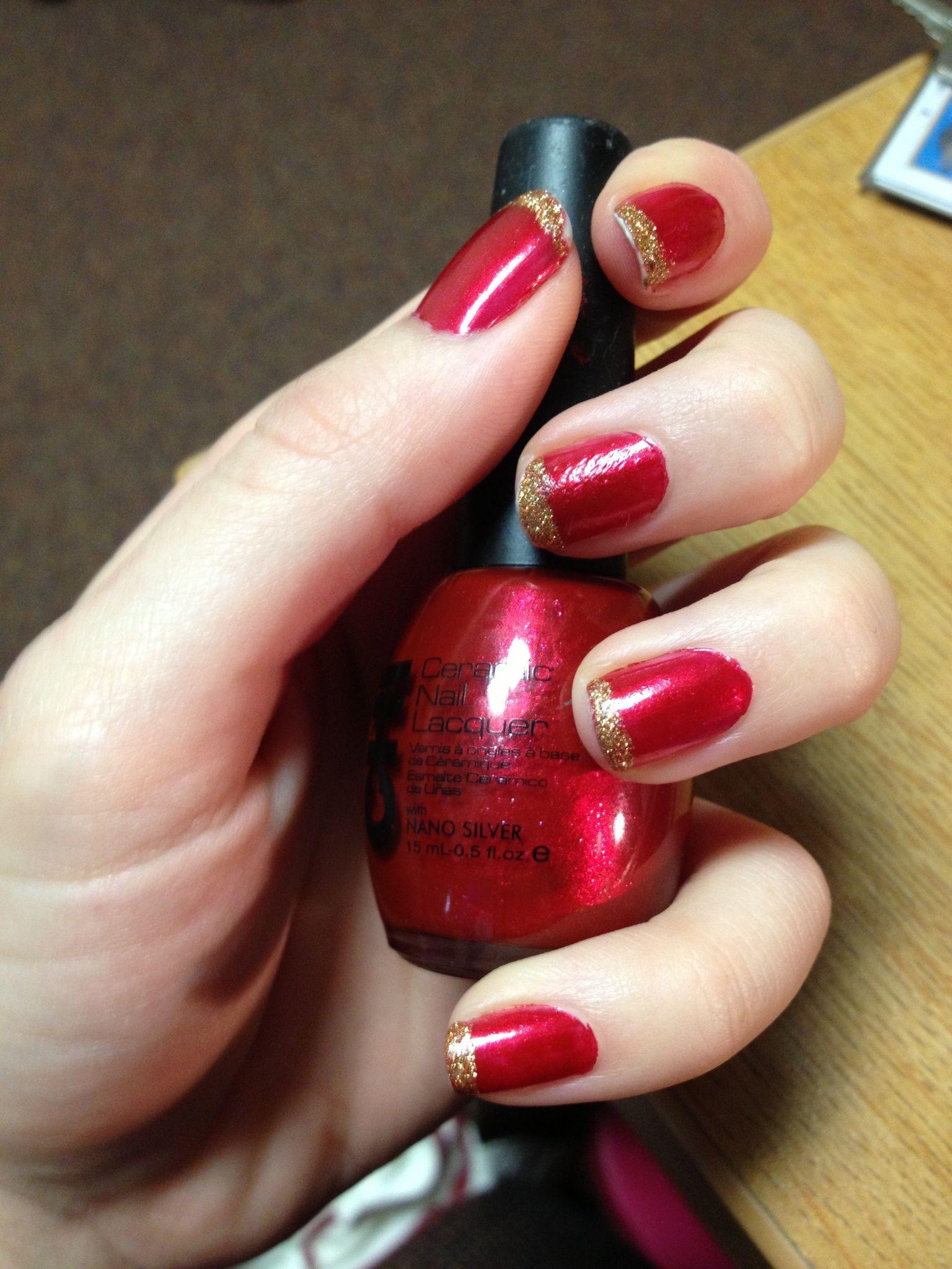 Christmas-y nails!