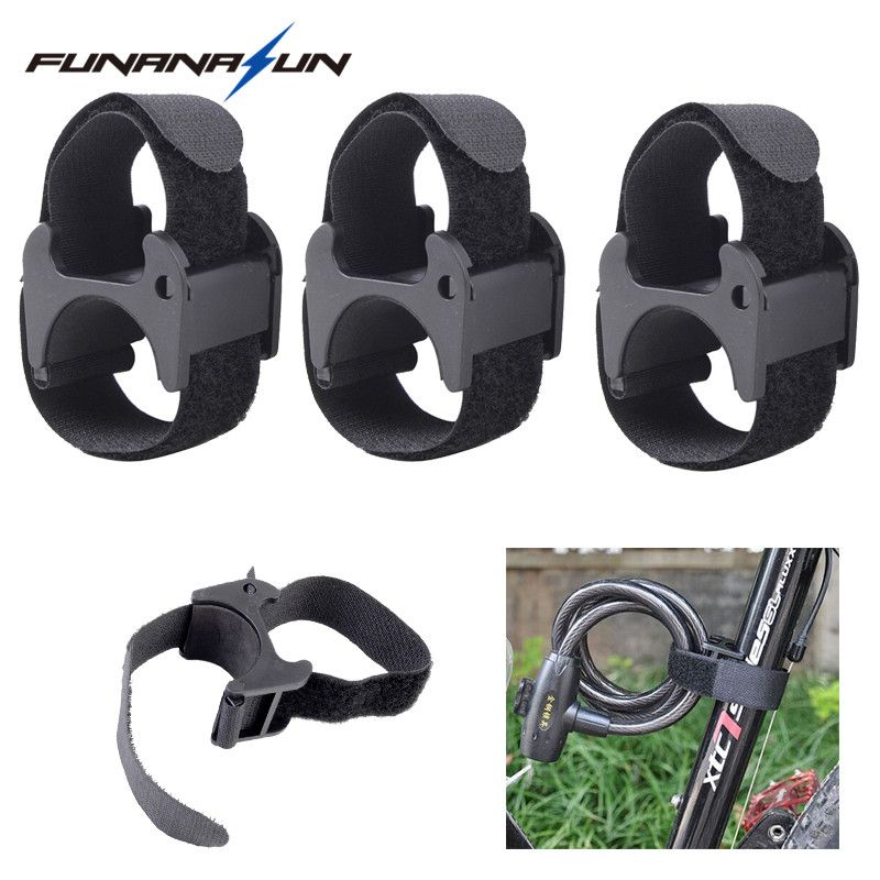 Bicycle LED Flashlight Lamp Clip Torch Holder Mount with Adhesive Strap