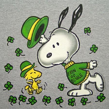 Peanuts By Schulz Snoopy Woodstock St Patricks Patrick S Day Beagle T Snoopy And Woodstock Snoopy Snoopy Love