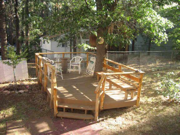Deck Built Around Trees Landscaping Around Trees Deck Around Trees Deck Garden