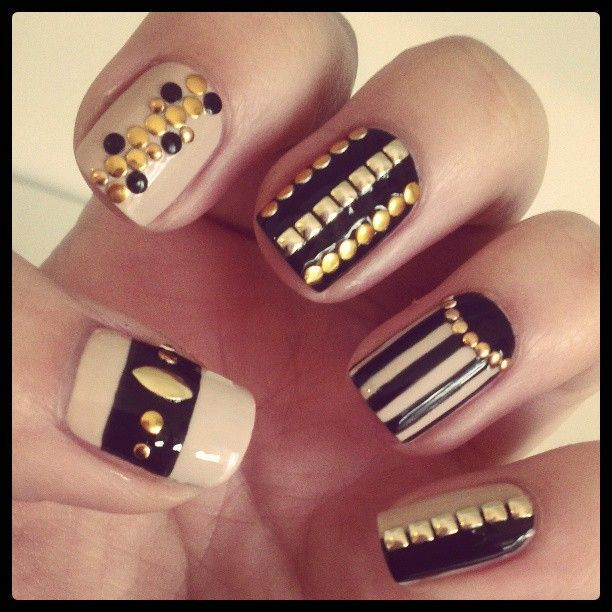 Top 20 Studded Nail Designs You Should Have Nails Pinterest