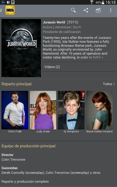 Jurrasic world imdb | Jurrasic World (cast) | Jurassic World