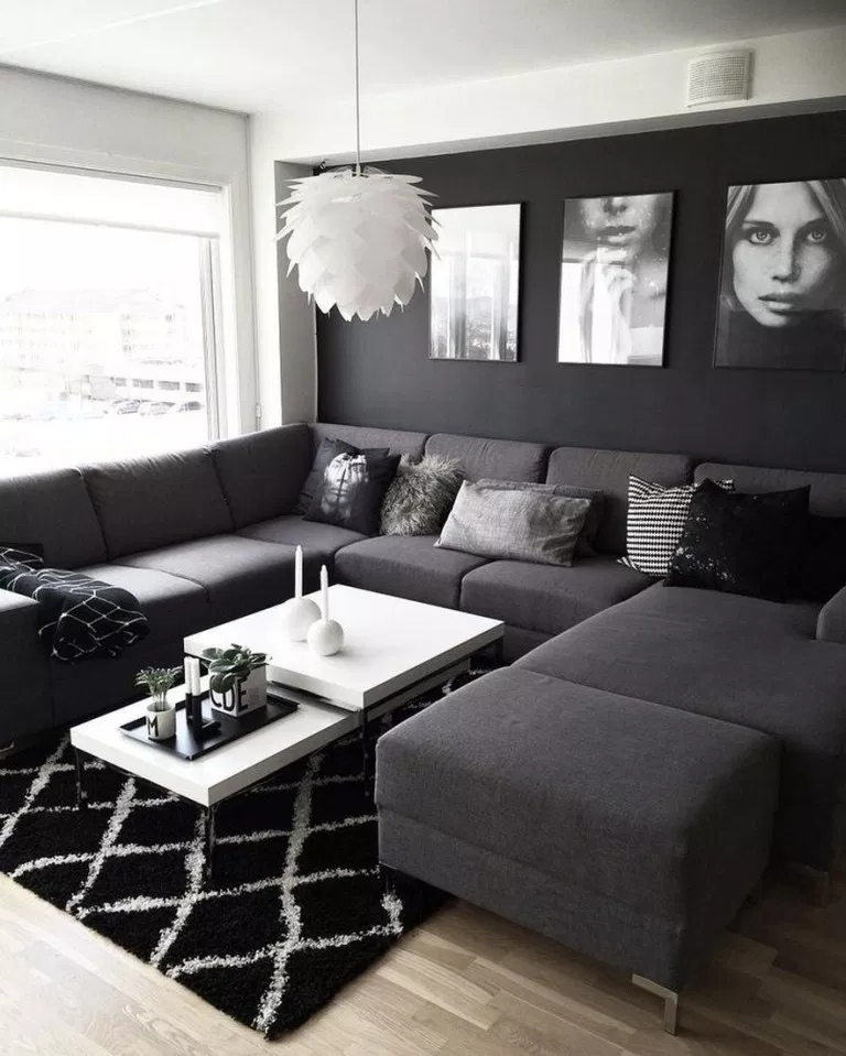 Photo of ✔55 black living room decor with minimalist design 18 ~ aacmm.com