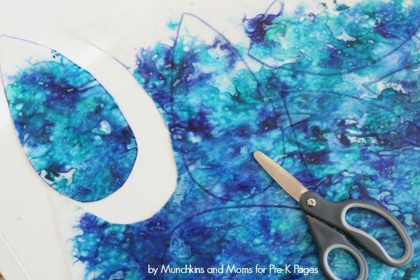 How To Make Raindrop Suncatchers Art Activity