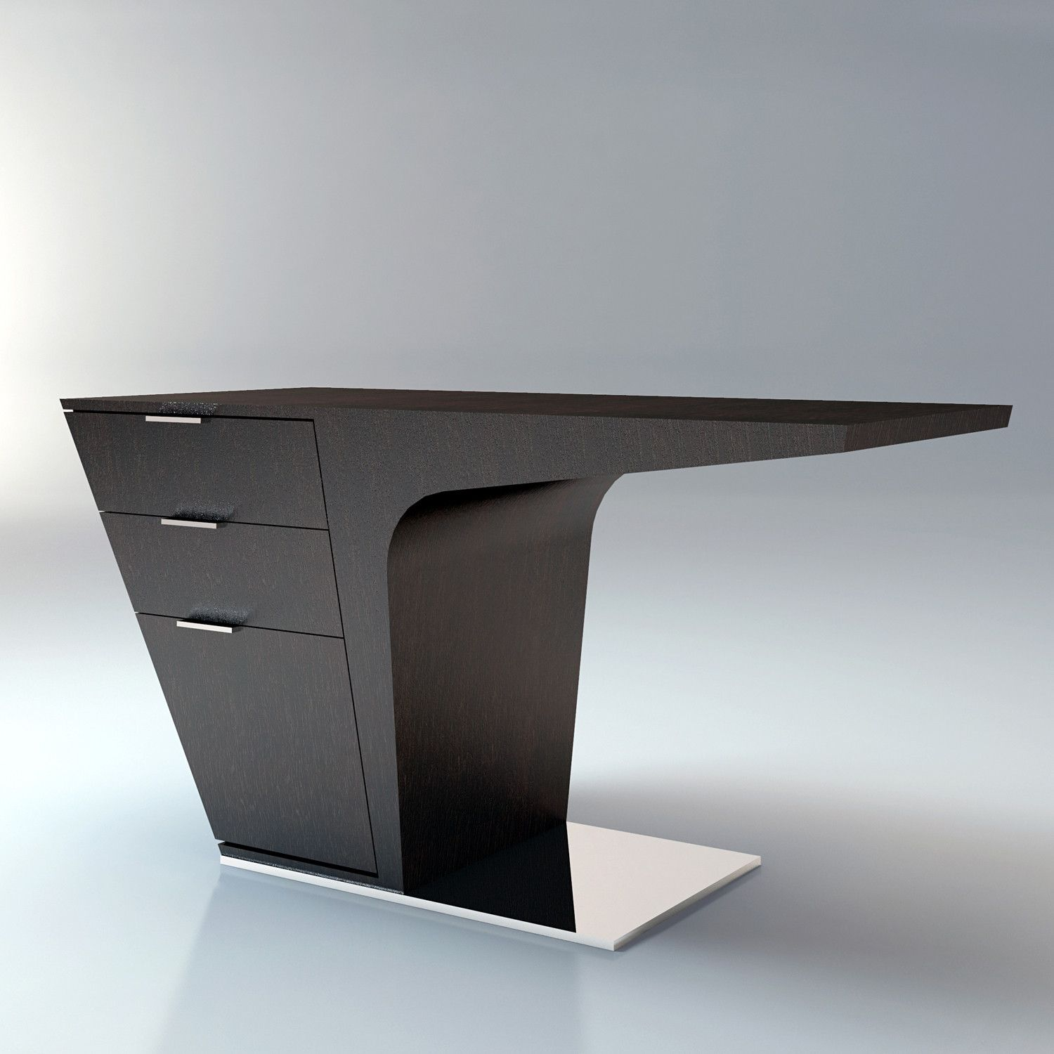 Ausgefallene Büromöbel Mercer Desk Wenge By Ted Toledano Industrial Design