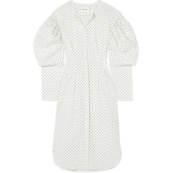 Sale Fake Cheap Discounts Desert Polka-dot Cotton-poplin Midi Dress - White Georgia Alice 7OOOouXL