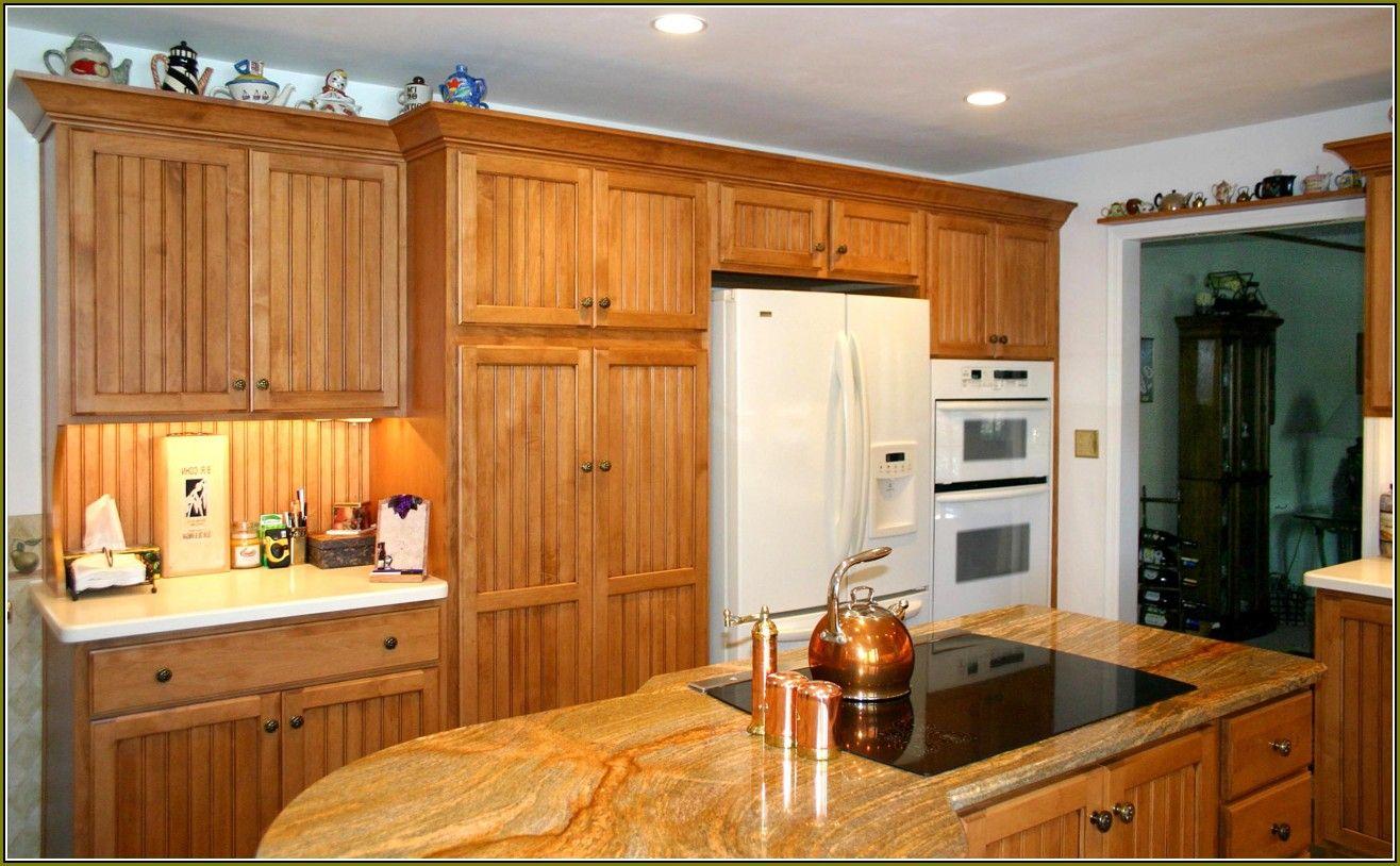 Honey Oak Cabinetshoney Oak Cabinets | Beadboard kitchen ...