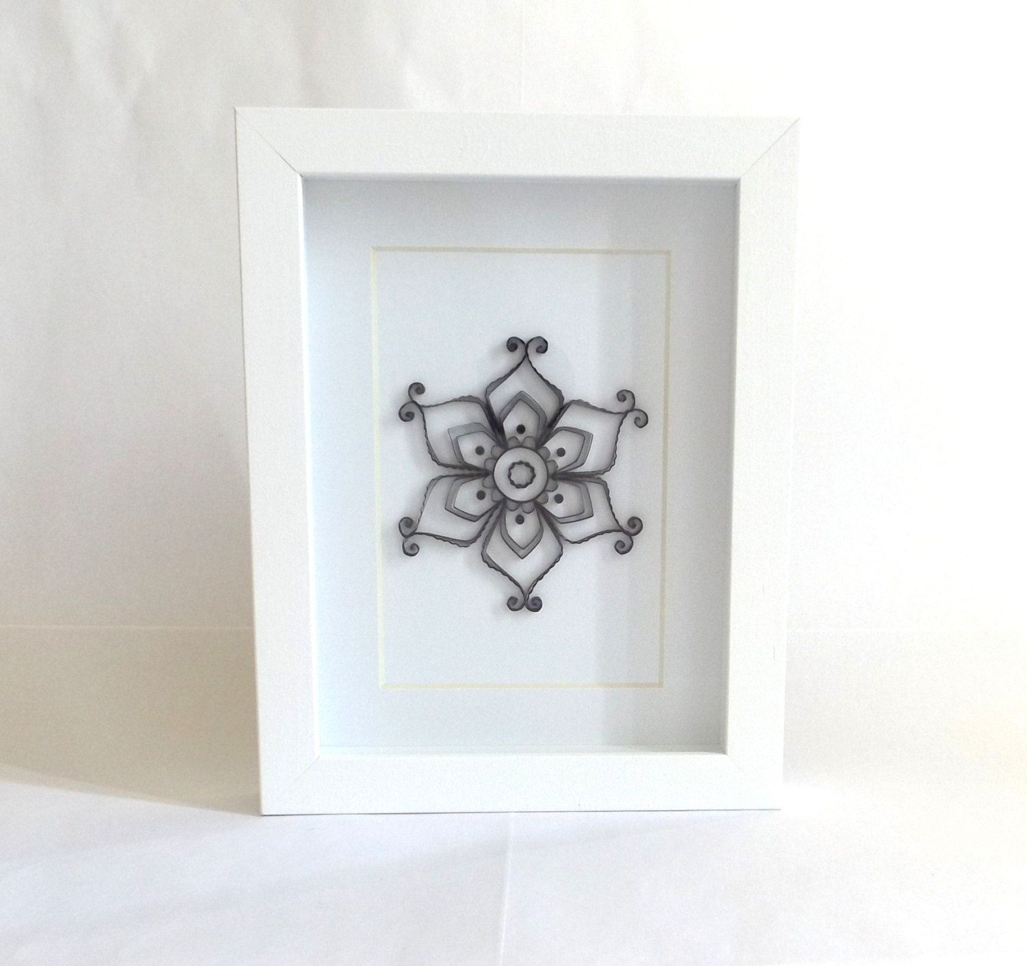 Quilling Home Decor Paper Quilling Art Frame Quilled Art Frame Quilled Mandala