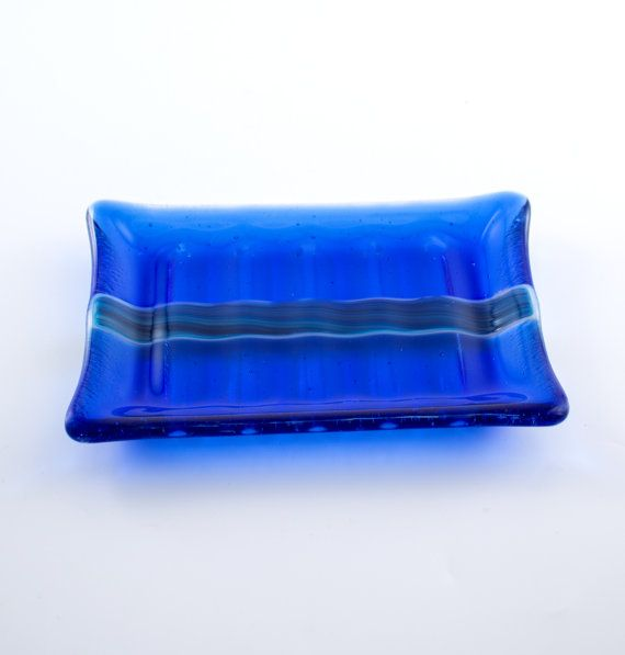 Fused Glass Soap Dish By Nostalgianmore Vivid Cobalt Blue Would Make A  Fabulous Addition To The