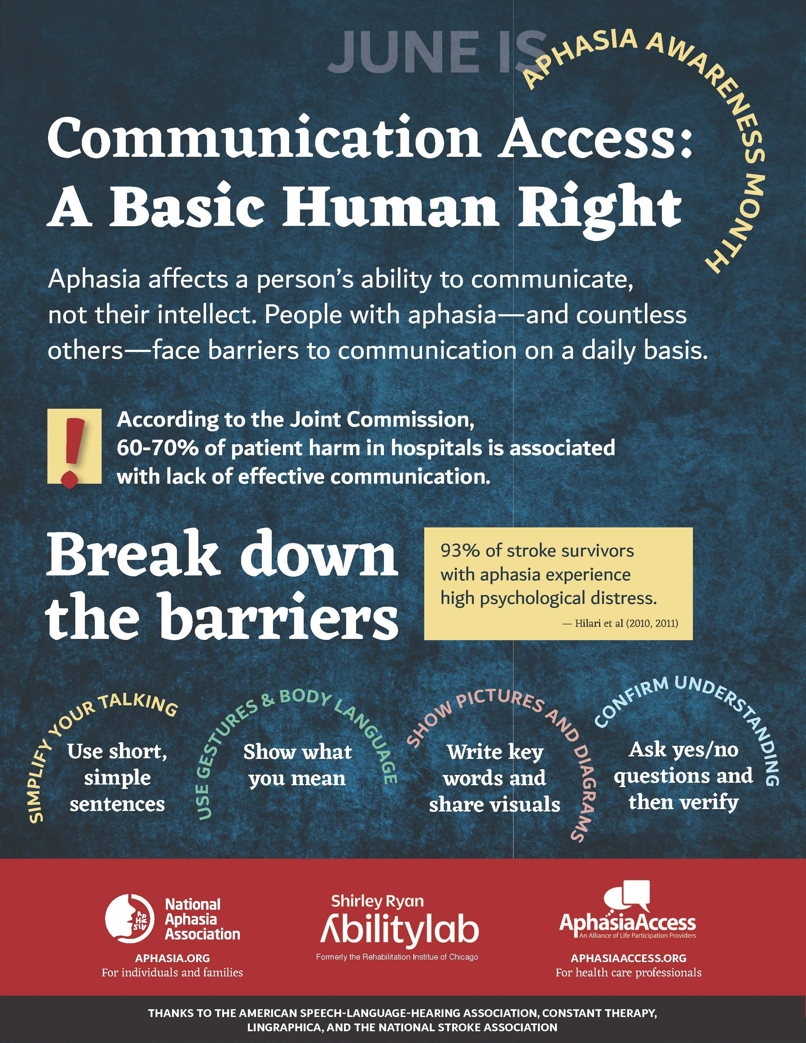 Image Result For Communication Tips Aphasia