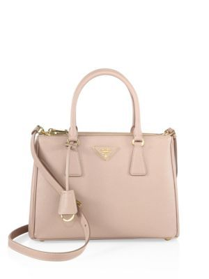 0b5f67a74f19 PRADA Saffiano Lux Small Double-Zip Tote.  prada  bags  shoulder bags  hand  bags  leather  tote