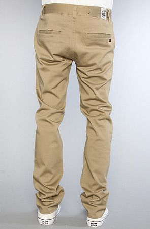 slim straight khaki pants - Pi Pants
