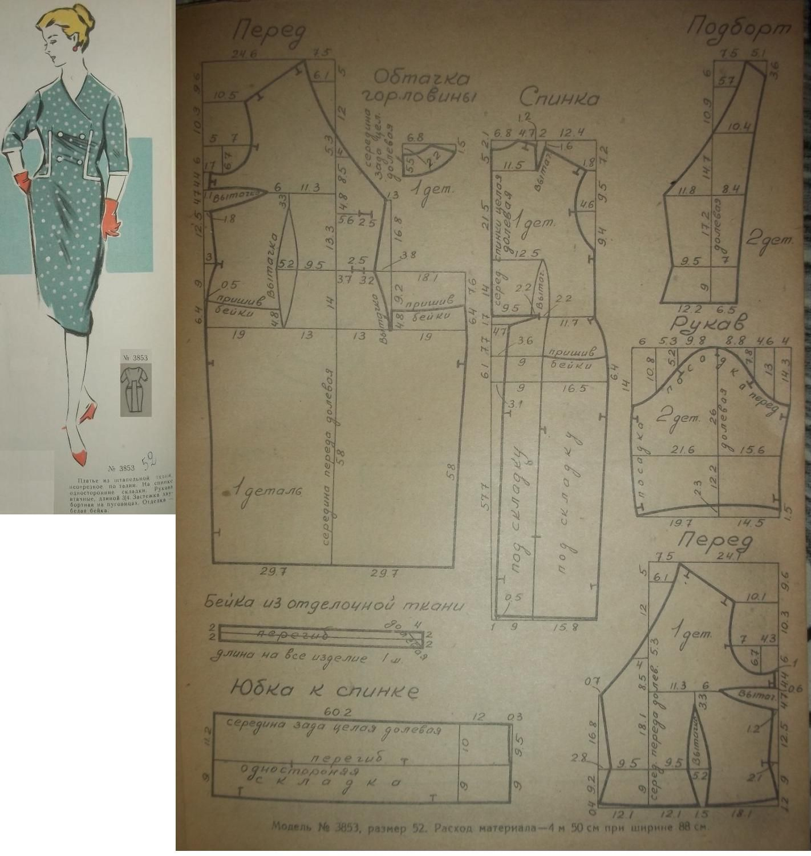 выкройка платья с втачным поясом на талии