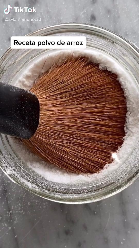 Receta polvo arroz   – Maquillaje