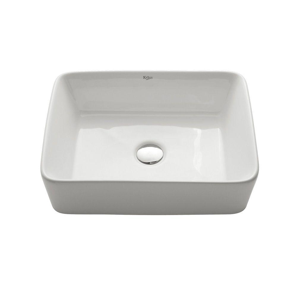 White Rectangular Ceramic Sink | Bathroom | Pinterest | Ceramic sink ...